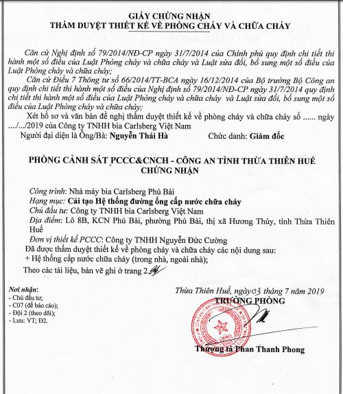 Thủ tục hành chính & giấy kiểm định PCCC